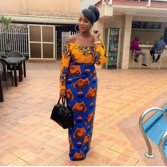 Ankara blouse and wrapper style for wedding