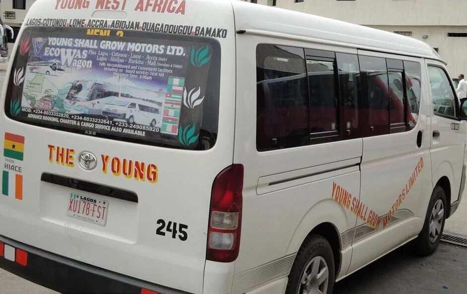 The Young Shall Grow Nissan bus