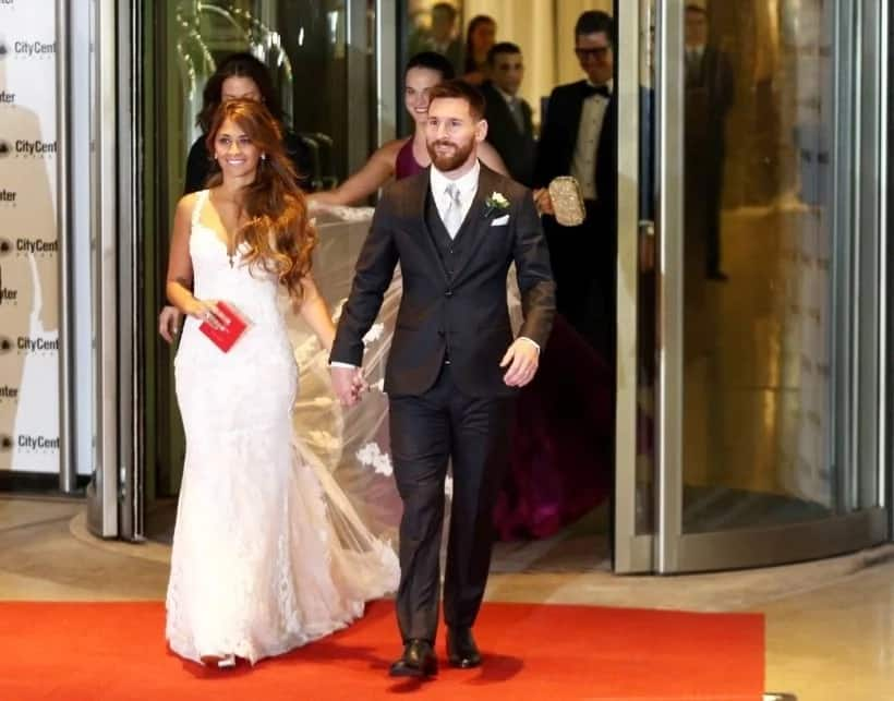Lionel Messi and his childhood sweetheart
