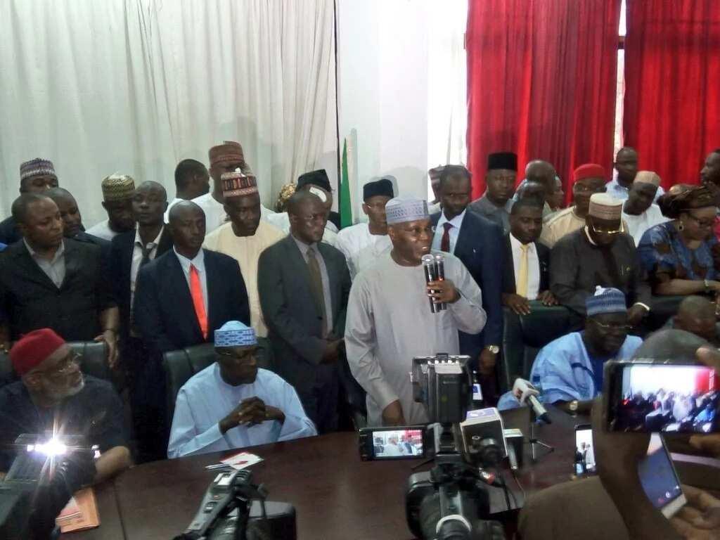 Breaking: Former vice president Atiku Abubakar arrives PDP headquarters