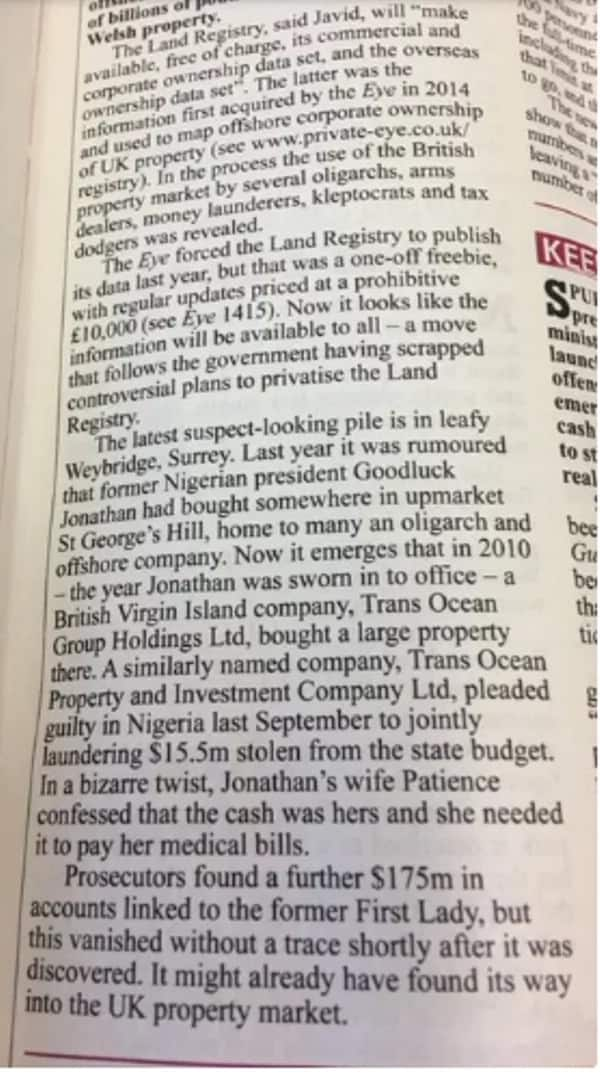 How Goodluck Jonathan bought a mansion in London
