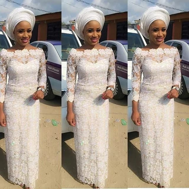 1fe42c2a19a Iro and blouse lace style  how to wear it in a right way  ▷ Legit.ng