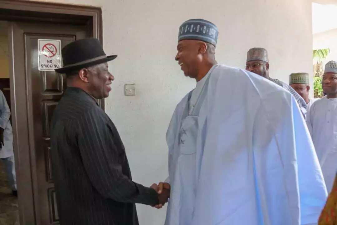 Happening now: Saraki meets with ex-President Goodluck Jonathan in Abuja