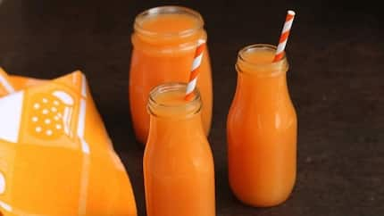 6 amazing ways to prepare peach-papaya-grapefruit juice