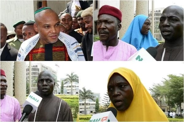 How Nnamdi Kanu is helping us secure the release of our brothers held by DSS for 5 years – Families of detained inmates (photos, videos)