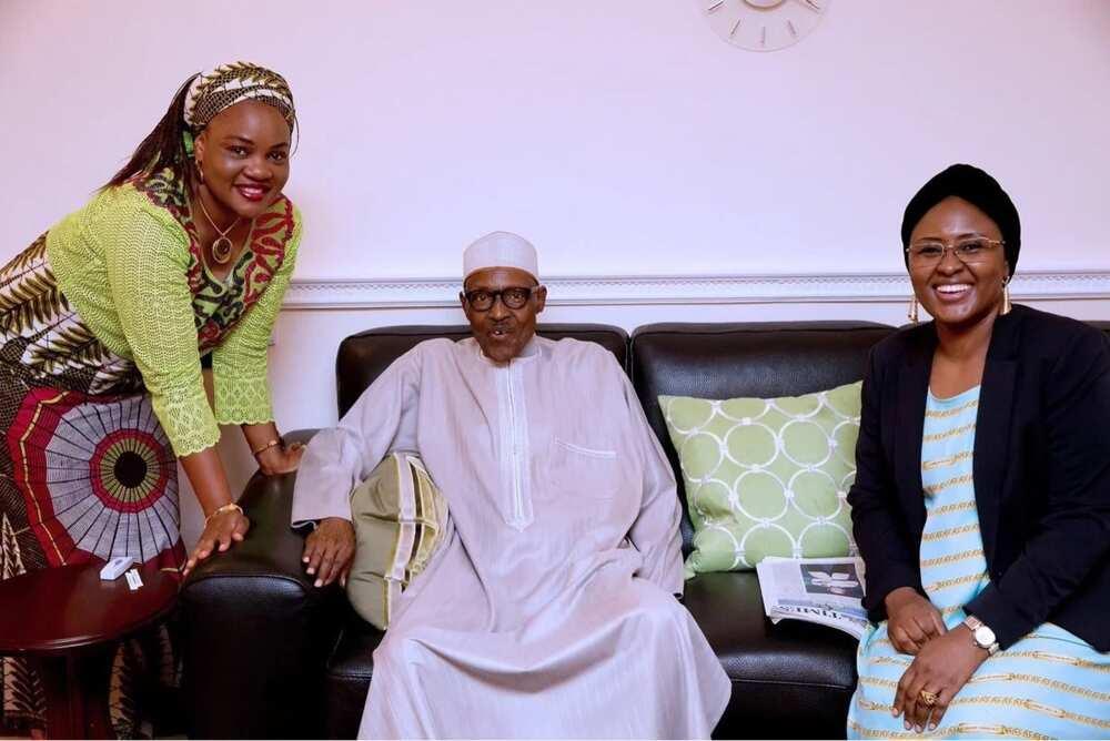 President Buhari and wife Aisha in London. Photo: Bayo Omoboriowo Nigeria Presidency