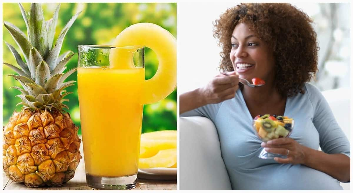 Is pineapple good for a pregnant woman?