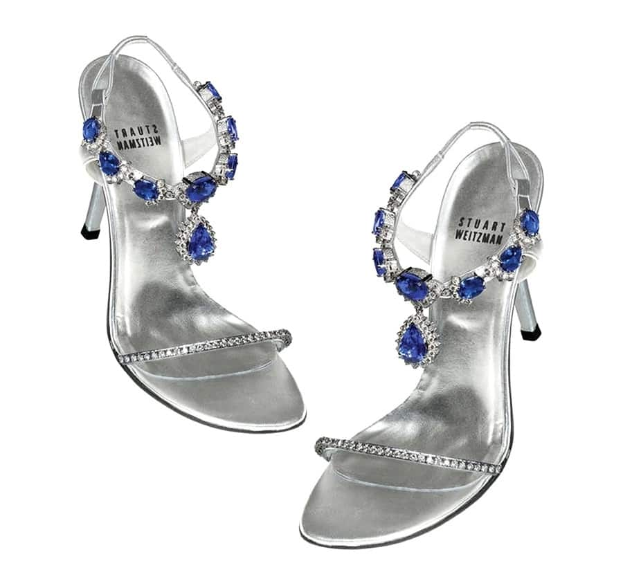 Stuart Weitzman Tanzanite Heels - most expensive shoes in the world