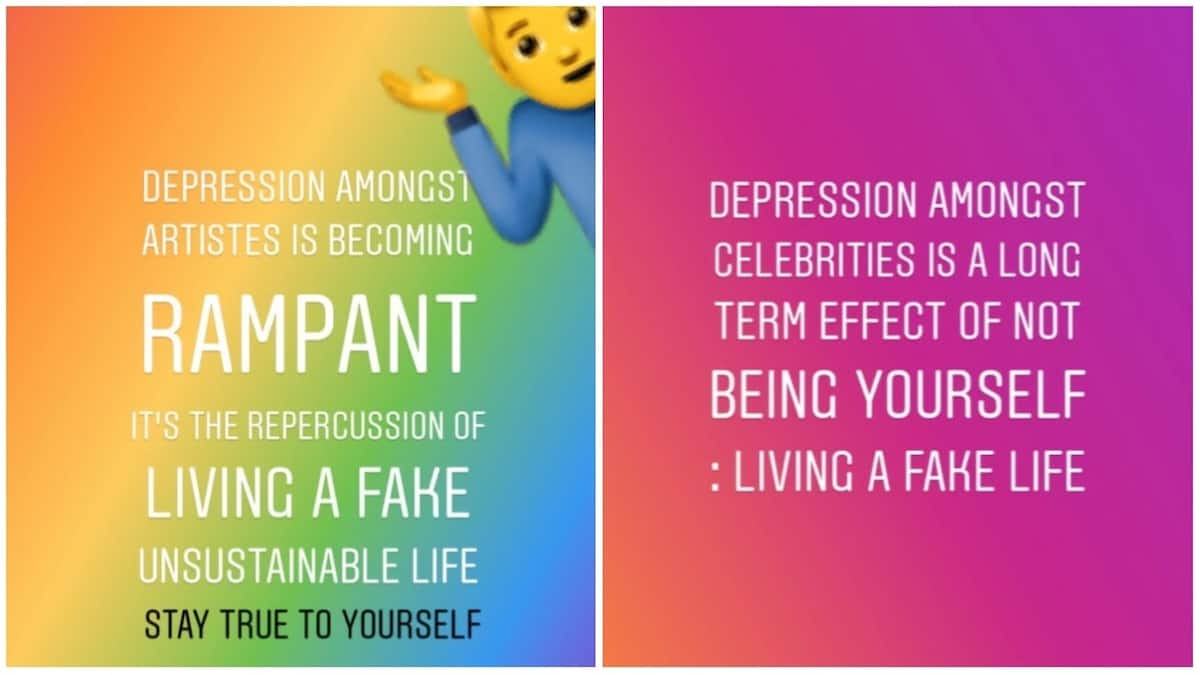 Living a fake life is the cause of celebrities depression - Kellyhandsome