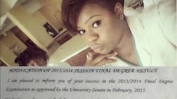 Nigerian lady shows off her certificate with third-class degree, says 'honours' was added (photo)