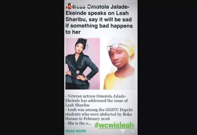 Why Leah Sharibu is my woman crush - Omotola Jalade-Ekeinde explains