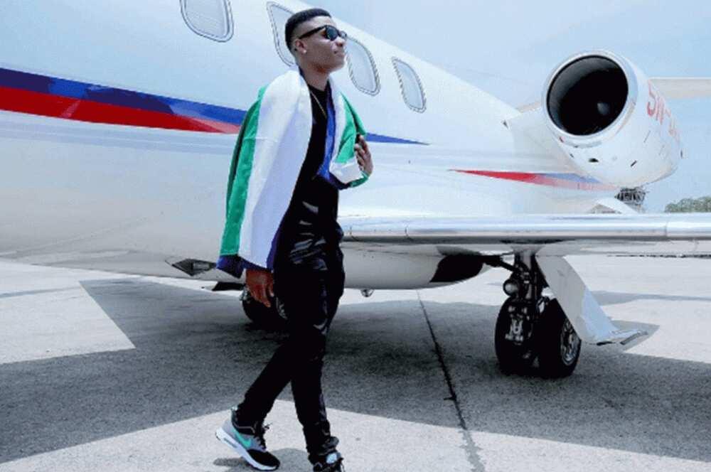 Wizkid private jet ▷ Legit ng