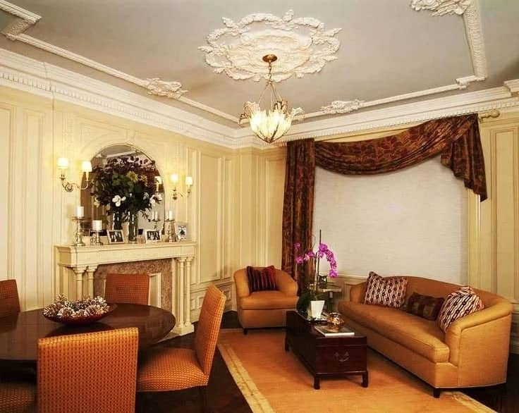 Best POP designs for living room in Nigeria - Floral designs
