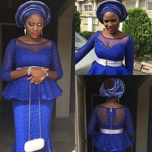 ec2cb605c0413f Latest lace skirt and blouse styles 2017 ▷ Legit.ng