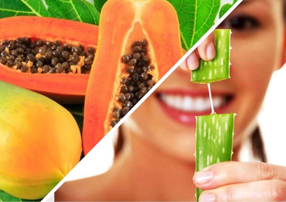 Aloe Vera and Papaya