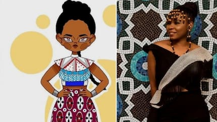 Yemi Alade says thank you to fan who created an animated image of her (photo)