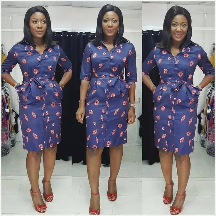b56f34b176 Top Ankara shirt dress styles ▷ Legit.ng