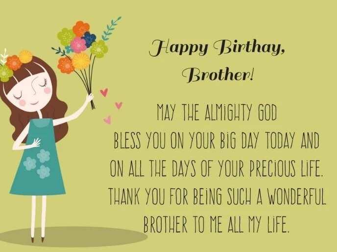 Birthday prayer for a brother