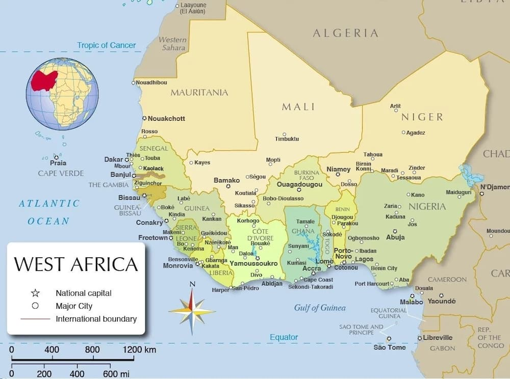 West African countries and their capitals ▷ Legit.ng