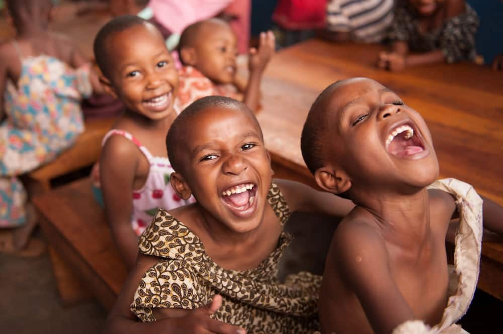 Children laughing out loud
