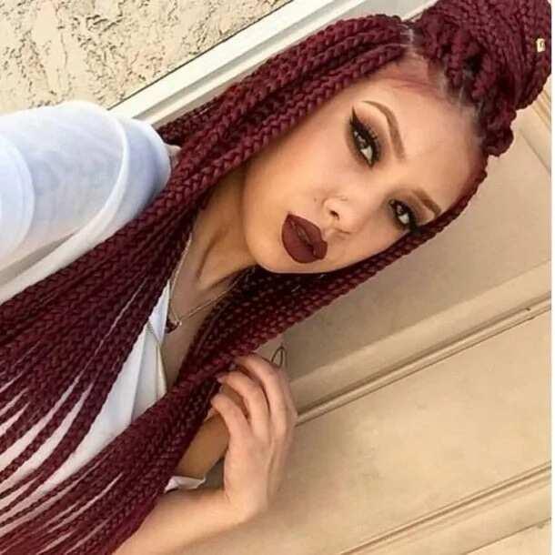 Red bob box braids