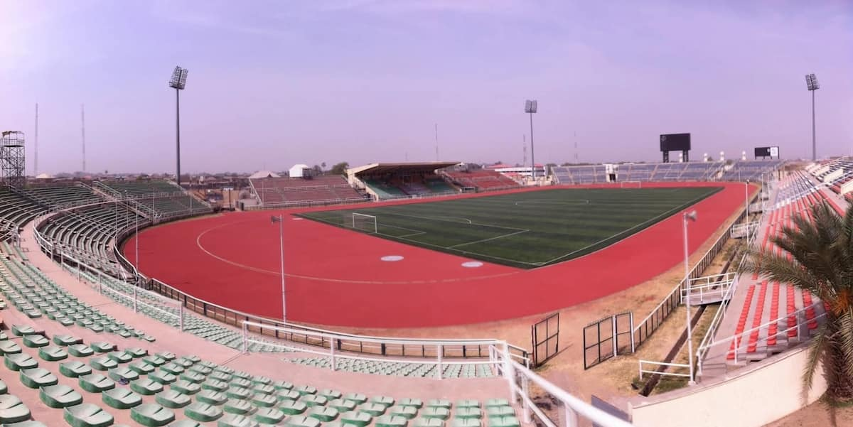 Sani Abacha Stadium currently used mostly for football matches and also sometimes for athletics