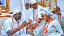 Nigerians react as Ooni of Ife takes pretty 25-year-old prophetess as wife