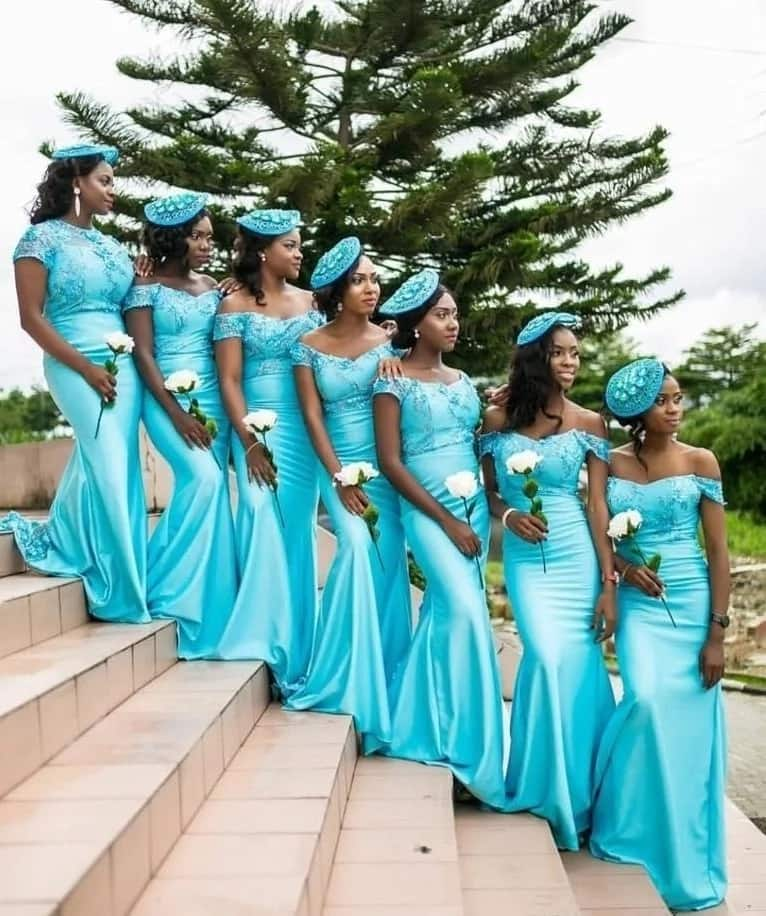 Turquoise for bridesmaids