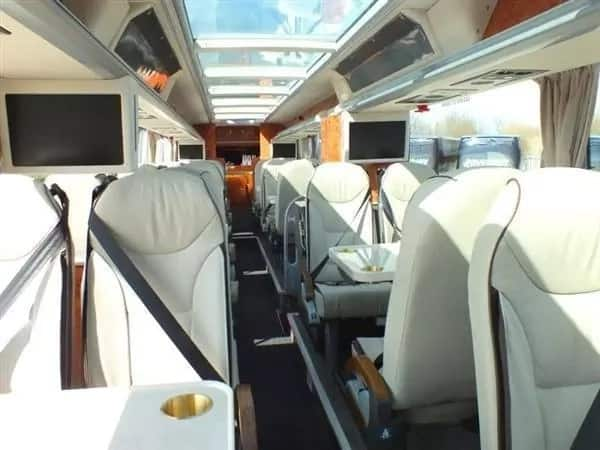 Check out the N190m Manchester United bus that has features of an aeroplane