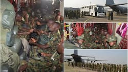 Nigerian Air Force airlifts Nigerian Army, Navy troops in support of ECOWAS Mission in Gambia (photos)