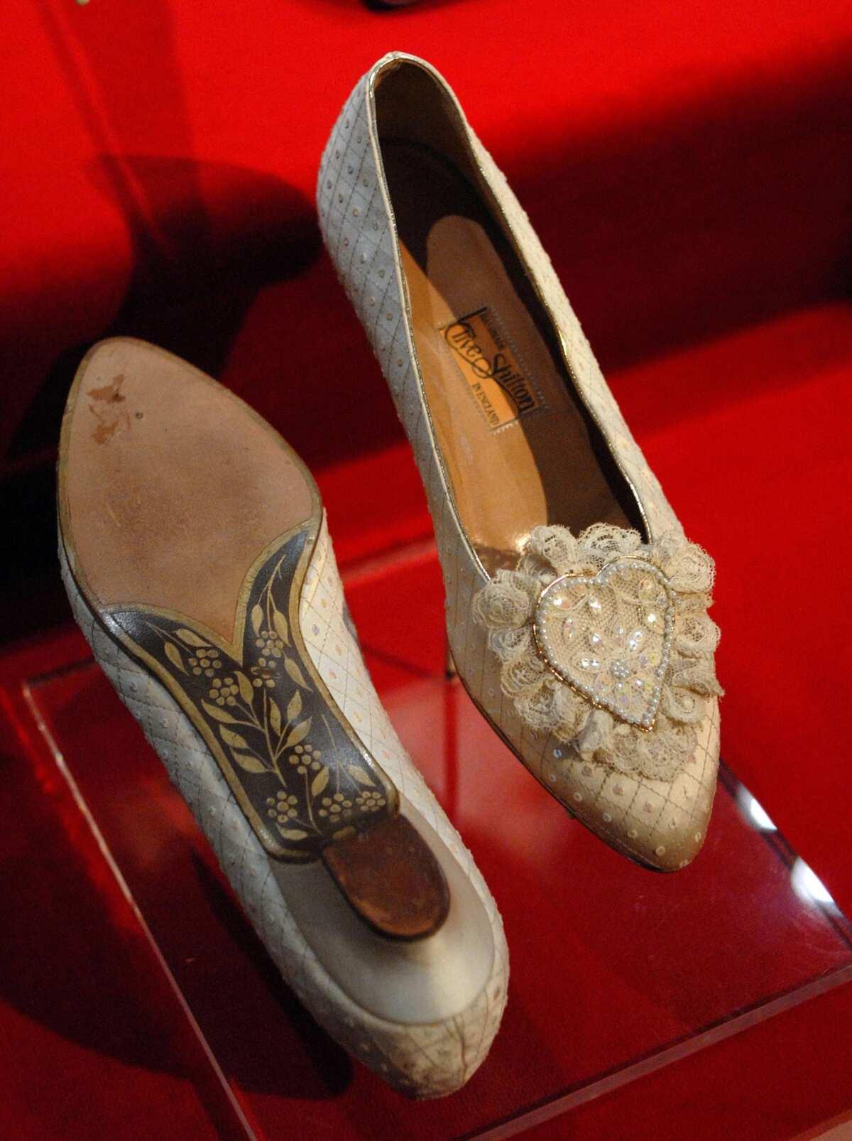 Princess Diana's wedding slippers