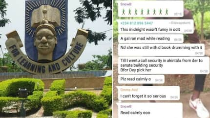Plz read calmly oo - OAU student says after a female colleague runs mad while reading for exam