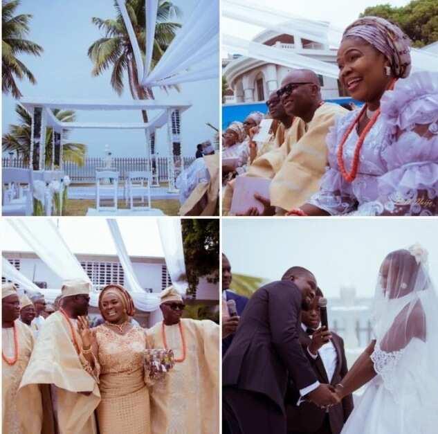 Cute photos from Feyikemi and Nifemi's outdoor wedding of in Lagos