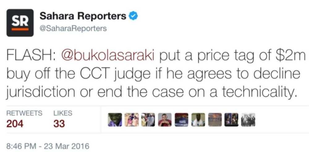 Saraki allegedly bribed CCT judge with $2m to have his case dismissed