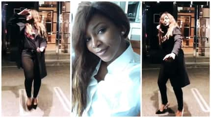 Watch video of actress Genevieve Nnaji dancing shaku shaku in New York