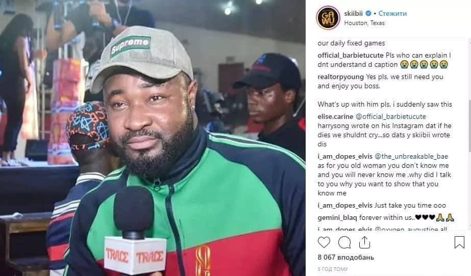 We need you here - Skiibii reacts after Harrysong's scary death post