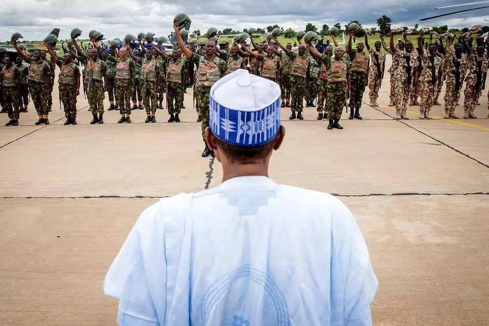 Buhari surprises troops of operations Sharan Daji, Diran Mikiya