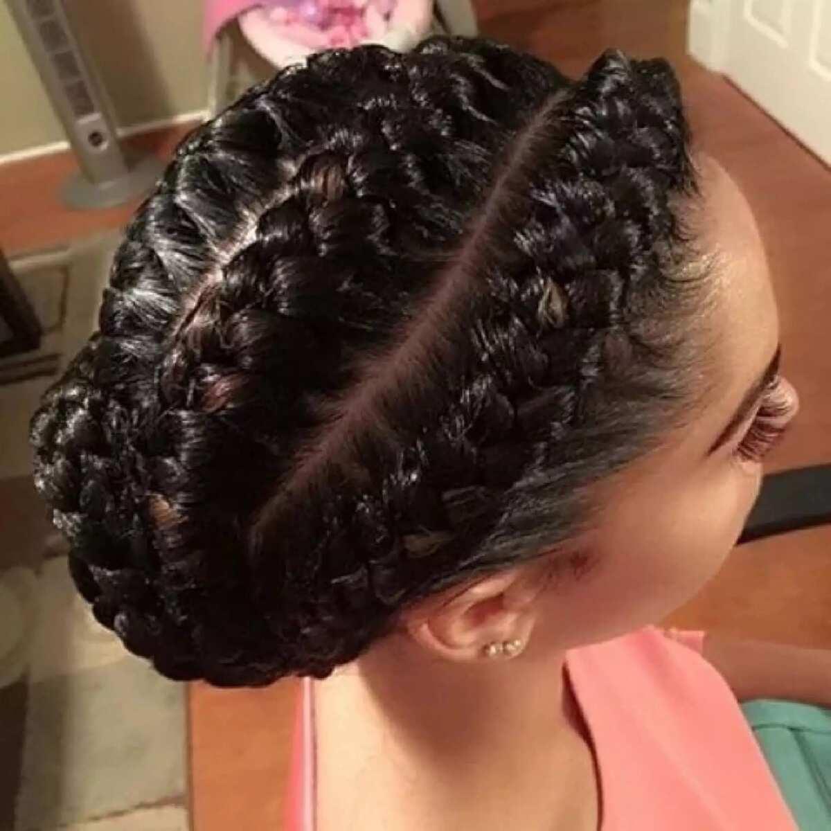 Ghana braids dual effect