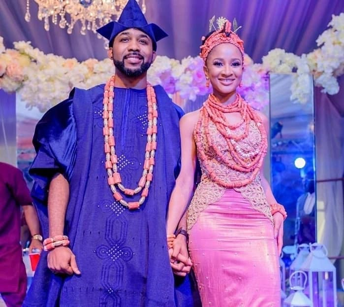 Banky W and Adesua Etomi traditional wedding