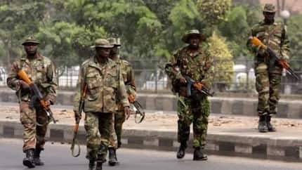 2019: Surprise as military recovers 113 live ammunition, AK-47 rifles from criminals, politicians
