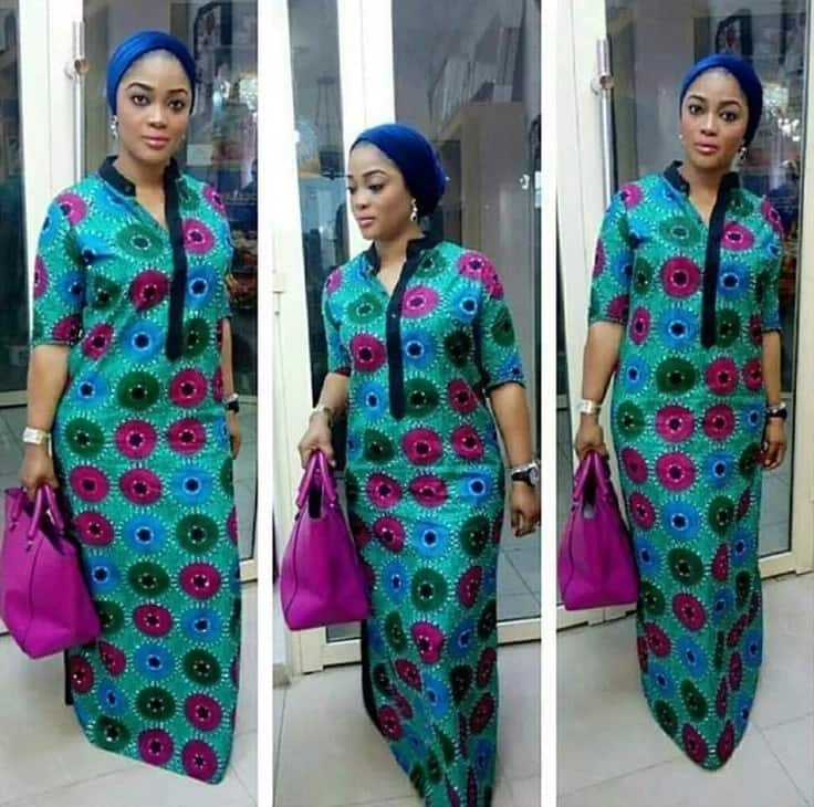 Latest looks with Ankara straight gowns