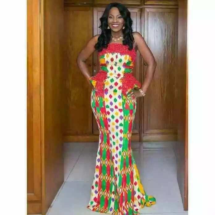 kitenge lace dress