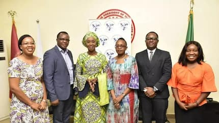 Weeks after her appointment by WHO, Toyin Saraki receives high level delegation from global body