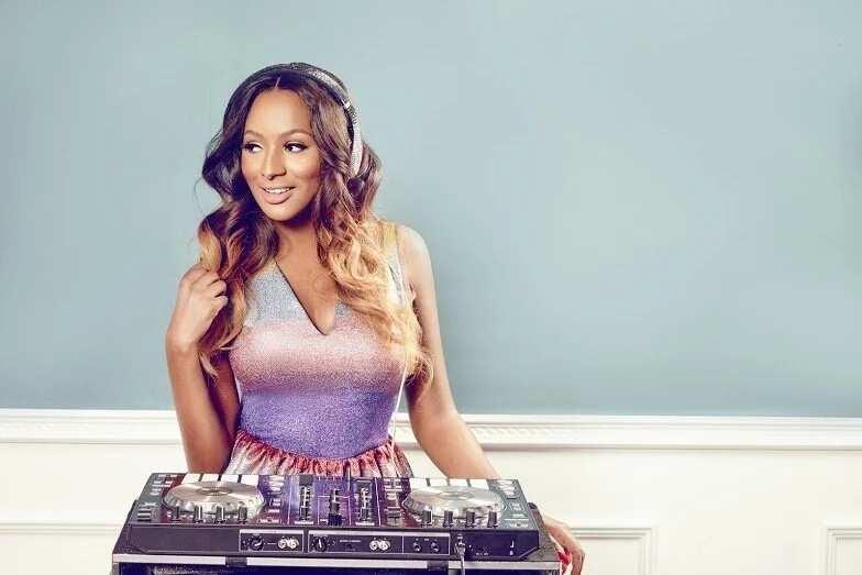 DJ Cuppy working