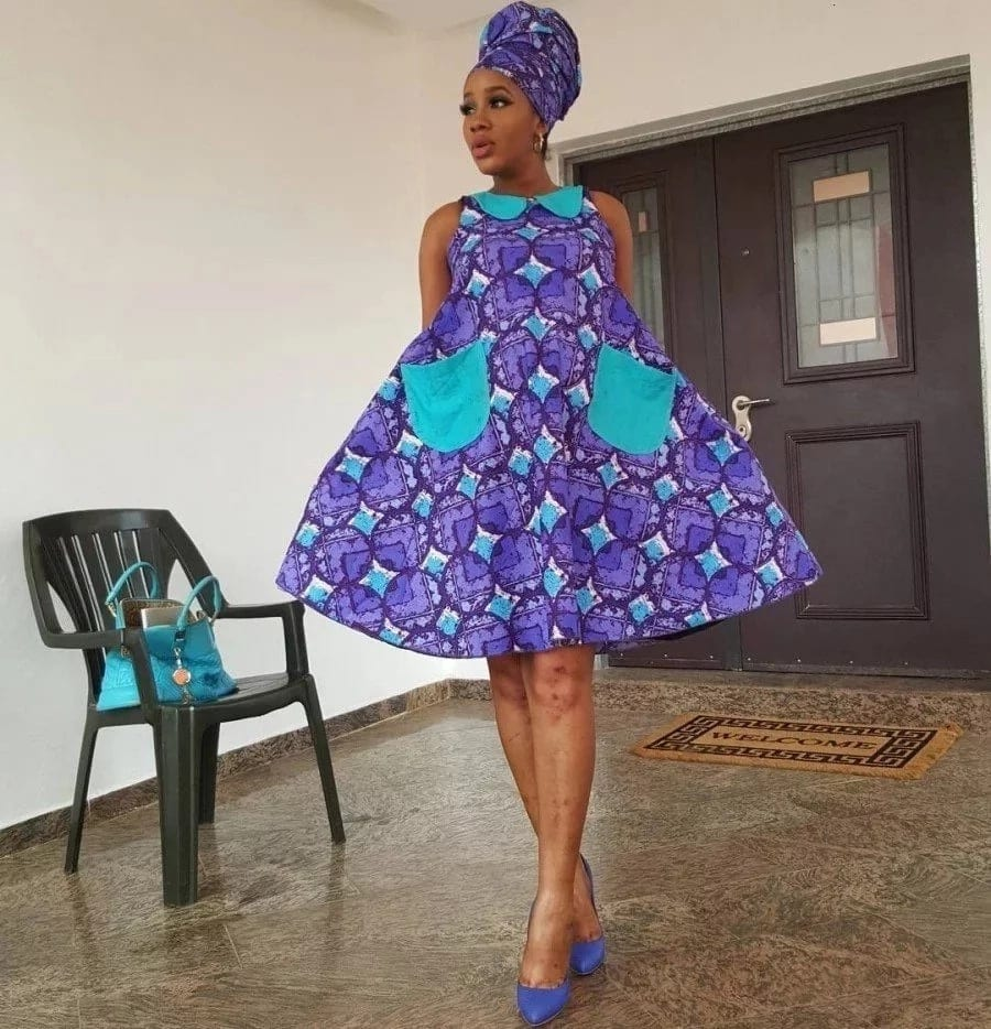 74e35422618c9 Ankara. Also, a successful combination of colors helps to hide the rounded  belly. A dress can be decorated with a bright floral pattern, ethnic  motifs, ...