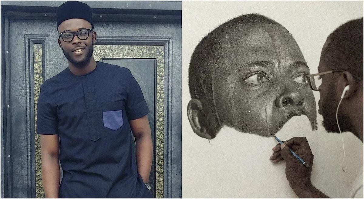 Meet 23 year old nigerian artist who makes unbelievable realistic pencil drawings photos ▷ legit ng