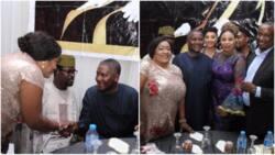 Foluke Daramola speaks on Dangote's humility, says he stood to greet her (photos)