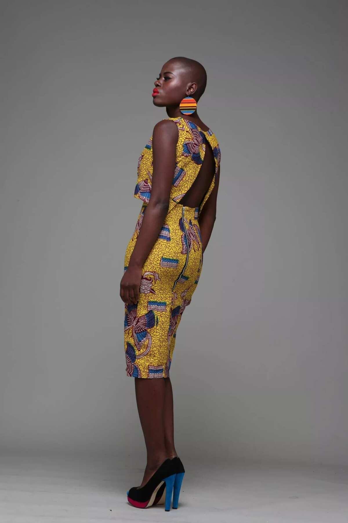 Ankara crop top with a pencil skirt