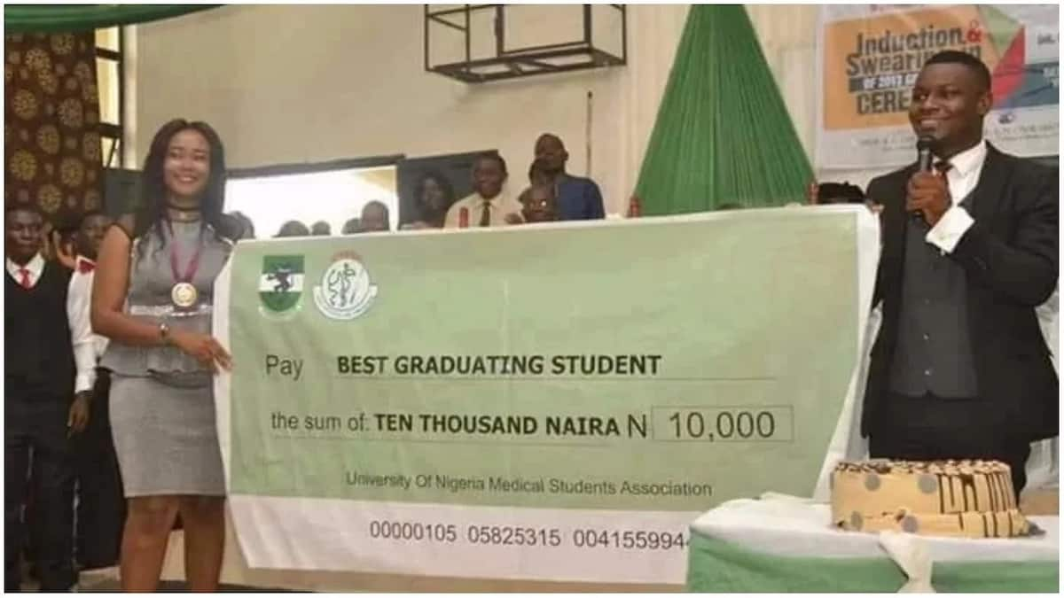 Best graduating student from college of medicine in UNN receives N10