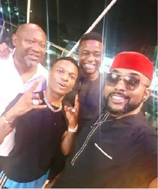 Wizkid hangs out with Banky W, Tunde Demuren and Paul Okoye in new photos